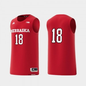 Basketball Swingman Cornhuskers Jersey #18 For Men College Adidas Replica Scarlet