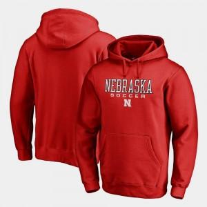 Soccer Fanatics Men True Sport Scarlet Nebraska Hoodie