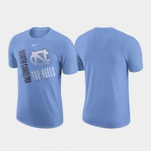 For Men's North Carolina Tar Heels T-Shirt Carolina Blue Just Do It Nike Performance Cotton