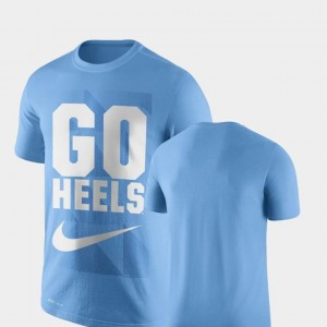 University of North Carolina T-Shirt Carolina Blue Performance Nike Mens Legend Franchise