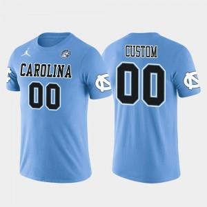 Light Blue UNC Custom T-Shirt Mens Future Stars Cotton Football #00