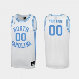 For Men's #00 UNC Customized Jersey Special College Basketball March Madness White