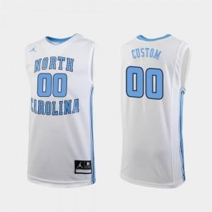 Jordan Brand College Basketball Men's White #00 Replica UNC Custom Jerseys