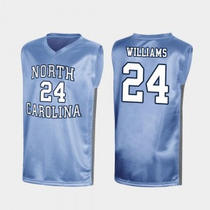 Special College Basketball Royal Kenny Williams North Carolina Tar Heels Jersey #24 Men March Madness