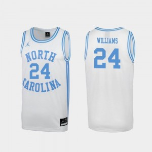 #24 March Madness White Special College Basketball Mens Kenny Williams University of North Carolina Jersey