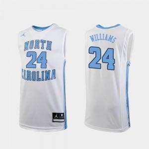 Replica White Jordan Brand College Basketball Men's Kenny Williams North Carolina Jersey #24