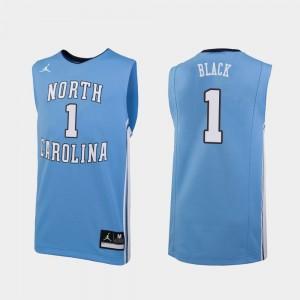 Leaky Black North Carolina Tar Heels Jersey Carolina Blue Jordan Brand College Basketball #1 Replica For Men