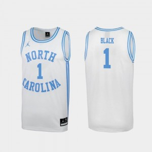 Mens Leaky Black Tar Heels Jersey Special College Basketball #1 March Madness White