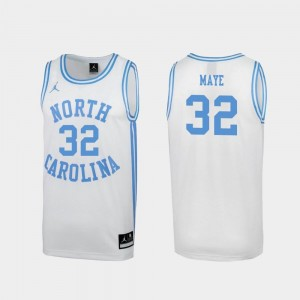 For Men's Luke Maye North Carolina Jersey March Madness Special College Basketball White #32