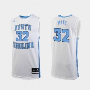 Luke Maye North Carolina Tar Heels Jersey Jordan Brand College Basketball Replica White #32 Men's