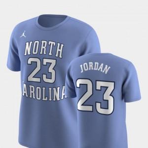Men Jordan Brand Replica #23 Future Stars Michael Jordan Tar Heels T-Shirt Carolina Blue