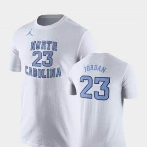 Nike Basketball Replica #23 For Men's Michael Jordan UNC Tar Heels T-Shirt Future Stars White