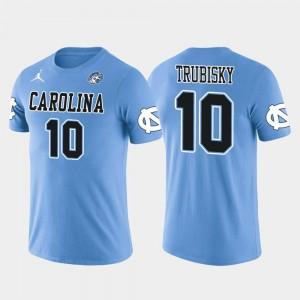 Future Stars Light Blue Mitchell Trubisky North Carolina T-Shirt Chicago Bears Football #10 Men