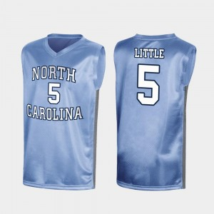 March Madness #5 Nassir Little UNC Jersey For Men Royal Special College Basketball