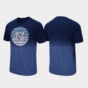 Navy For Men Dip Dye University of North Carolina T-Shirt Fancy Walking