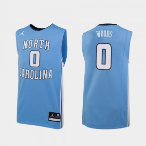 Seventh Woods North Carolina Tar Heels Jersey #0 Replica Men Jordan Brand College Basketball Carolina Blue