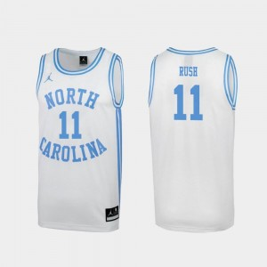 For Men Special College Basketball March Madness #11 White Shea Rush University of North Carolina Jersey