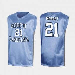 Men's Special College Basketball #21 Sterling Manley University of North Carolina Jersey Royal March Madness