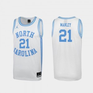 #21 Mens March Madness Sterling Manley University of North Carolina Jersey Special College Basketball White