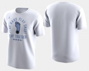 March Madness Bench Men UNC T-Shirt Basketball Tournament White