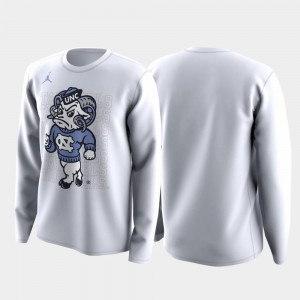Family on Court For Men University of North Carolina T-Shirt White March Madness Legend Basketball Long Sleeve