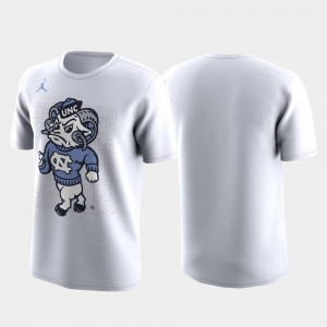 Family on Court White March Madness Legend Basketball Performance Tar Heels T-Shirt Mens