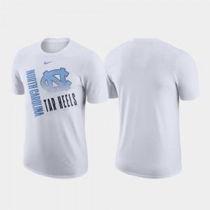 White Just Do It UNC Tar Heels T-Shirt For Men Nike Performance Cotton