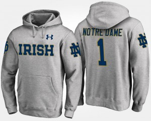 UND Hoodie Gray Name and Number Mens No.1 #1