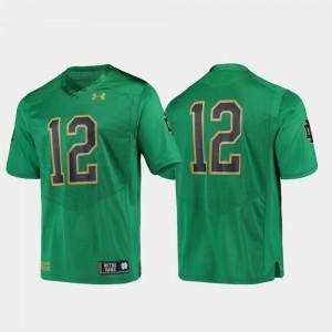 #12 Irish Jersey Green Replica Football Under Armour Mens