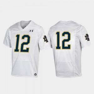 For Men UND Jersey White College Football Under Armour Replica #12