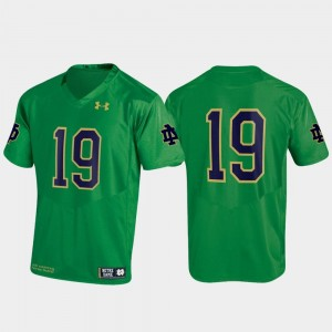 #19 Kelly Green Fighting Irish Jersey Replica Under Armour Men's