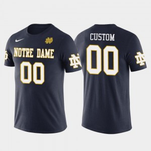 Mens Navy Cotton Football Future Stars UND Custom T-Shirts #00