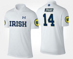 DeShone Kizer Fighting Irish Polo Name and Number #14 For Men White