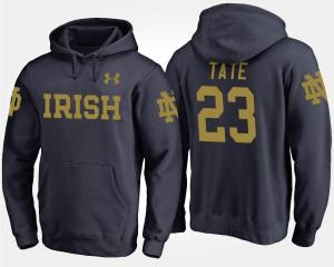 Men's Golden Tate Fighting Irish Hoodie Name and Number #23 Navy