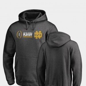 For Men's Heather Gray 2018 College Football Playoff Bound Cadence Fanatics Branded University of Notre Dame Hoodie