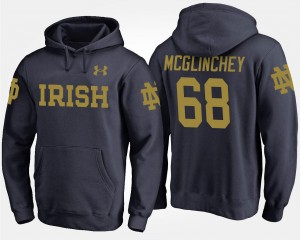 #68 Mike McGlinchey UND Hoodie Mens Navy Name and Number