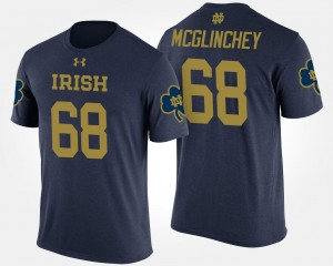 Navy Mike McGlinchey University of Notre Dame T-Shirt Men's Name and Number #68