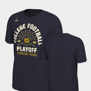 Sun Nike University of Notre Dame T-Shirt Navy For Men's 2018 College Football Playoff Bound