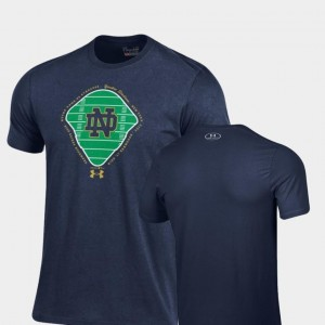 Navy 2018 Shamrock Series For Men's Field Charged Cotton Under Armour Notre Dame Fighting Irish T-Shirt
