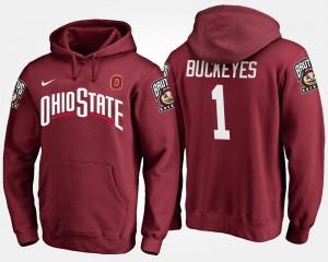 No.1 Name and Number Ohio State Buckeyes Hoodie Scarlet Men's #1