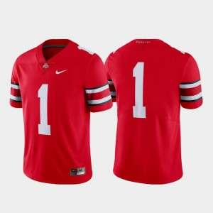 Limited College Football Nike Men's #1 Scarlet Ohio State Jersey