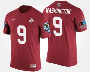 Scarlet #92 Big Ten Conference Cotton Bowl Mens Bowl Game Adolphus Washington Ohio State T-Shirt