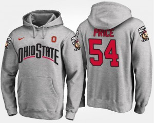 Gray For Men's Billy Price Ohio State Hoodie #54 Name and Number