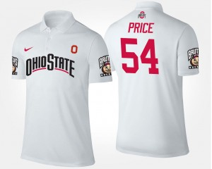 White Name and Number Men Billy Price OSU Buckeyes Polo #54