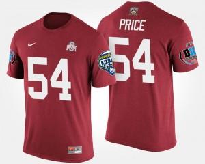 Scarlet Mens Big Ten Conference Cotton Bowl Bowl Game Billy Price OSU T-Shirt #54