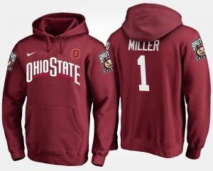 Braxton Miller OSU Buckeyes Hoodie #5 Men Name and Number Scarlet
