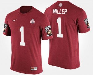 Scarlet #5 Big Ten Conference Cotton Bowl Braxton Miller Ohio State Buckeyes T-Shirt For Men Bowl Game