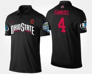 Curtis Samuel OSU Polo #4 Black Bowl Game Men Big Ten Conference Cotton Bowl Name and Number