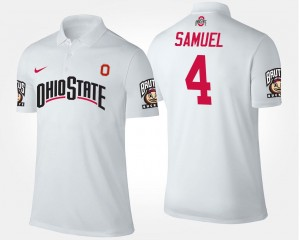Name and Number For Men #4 Curtis Samuel Ohio State Polo White