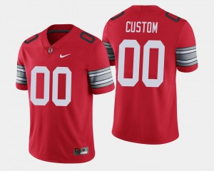2018 Spring Game Limited Scarlet Ohio State Custom Jerseys For Men's #00